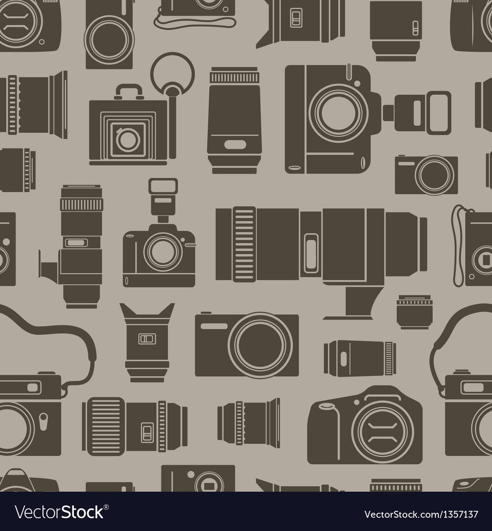 Modern and retro photo technics vector