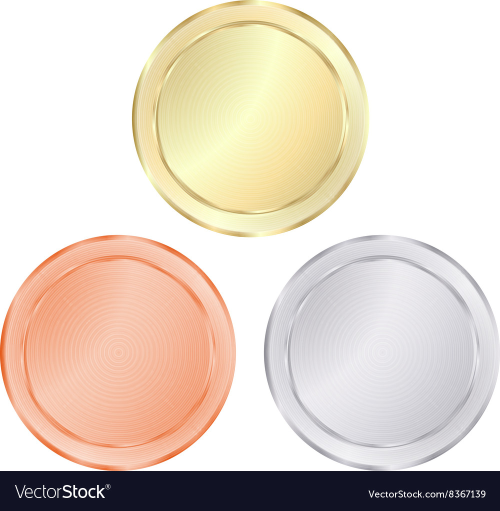 Blank templates for coin price tags buttons sewing vector