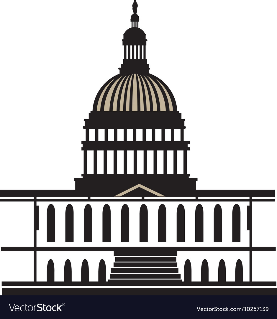 Capitol washington america usa vector
