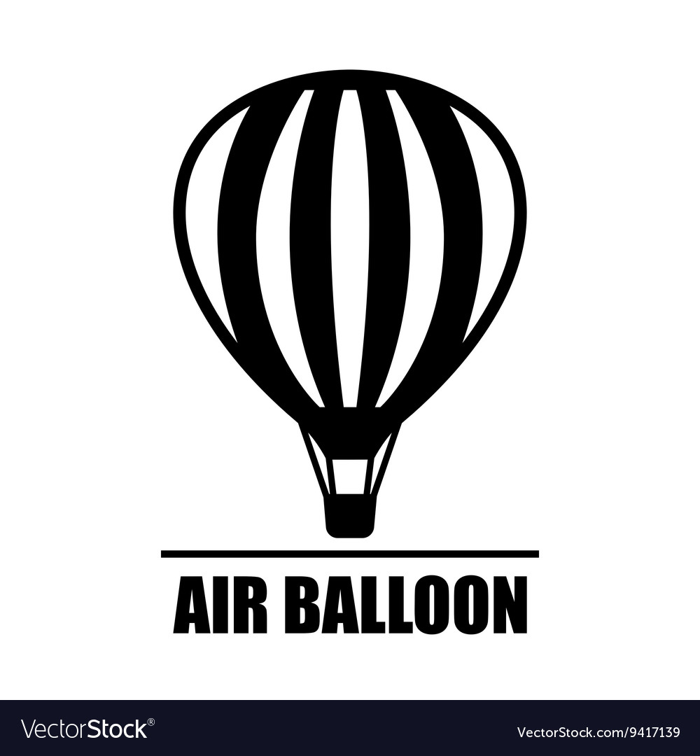Hot air ballon icon vector