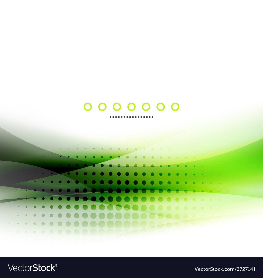 Abstract background green wave business template vector