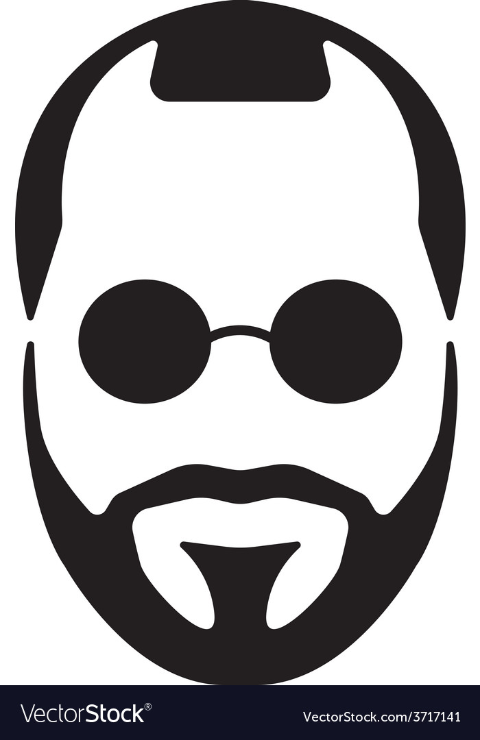 Bearded young man vector