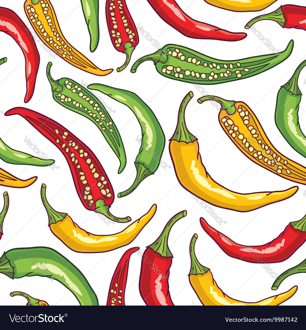 Pepper patterned background vector