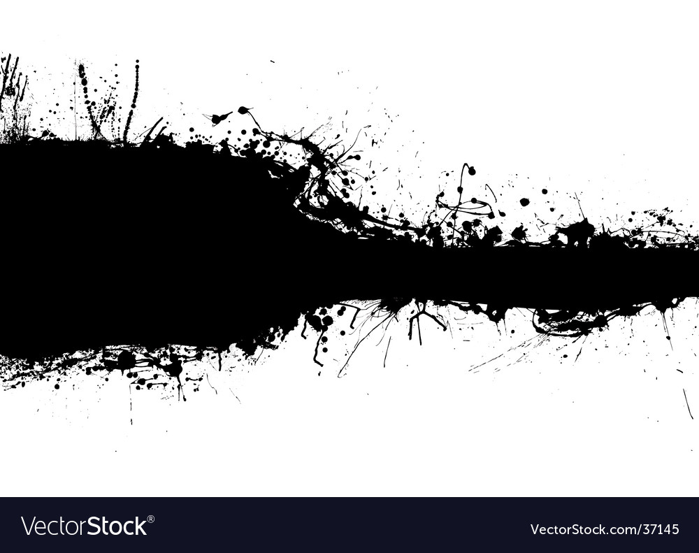 Black band blank vector