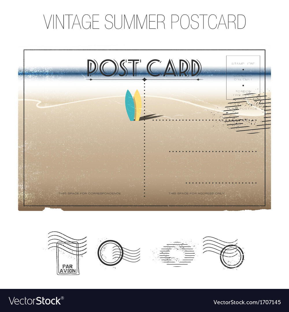 Summer postcard vector