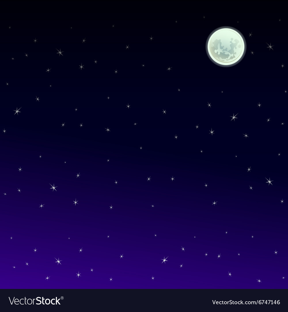 Starry night sky background vector