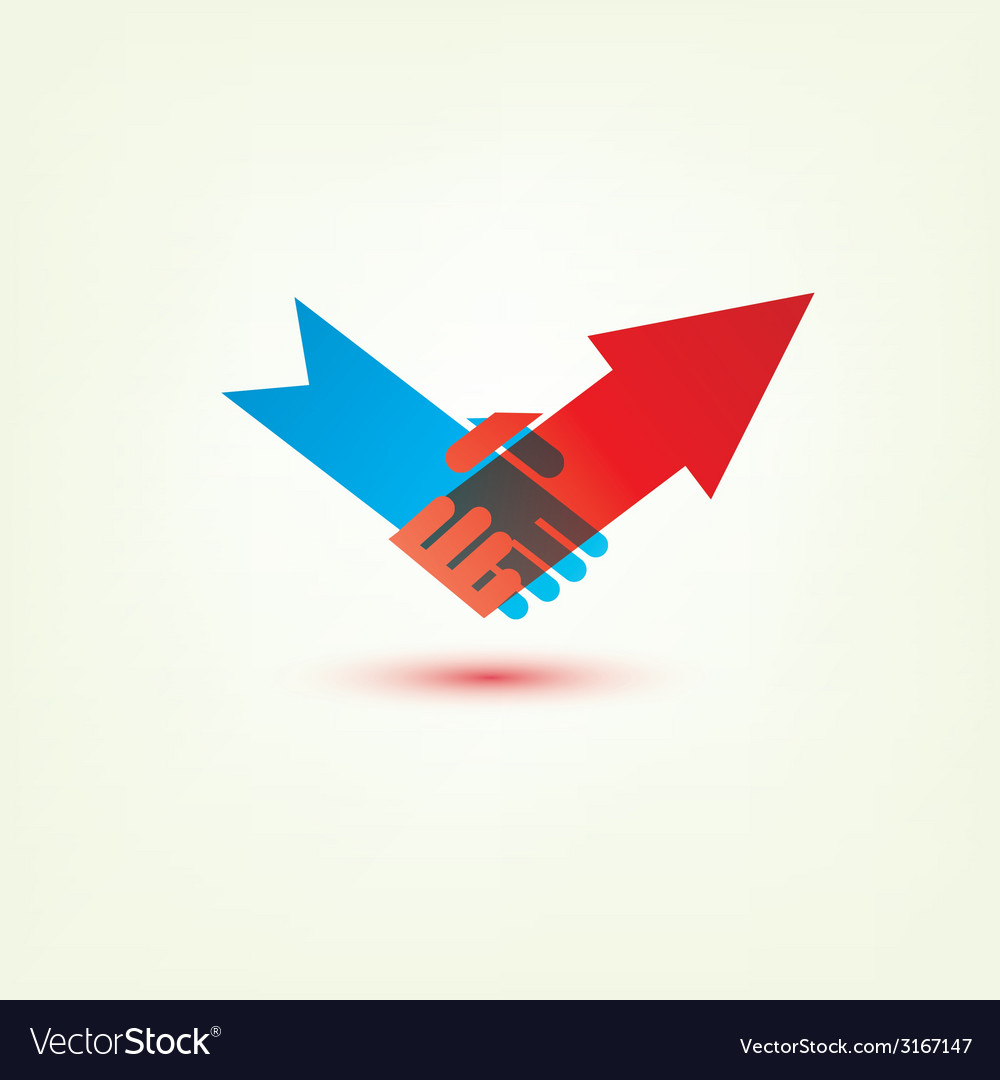 Handshake arrow vector
