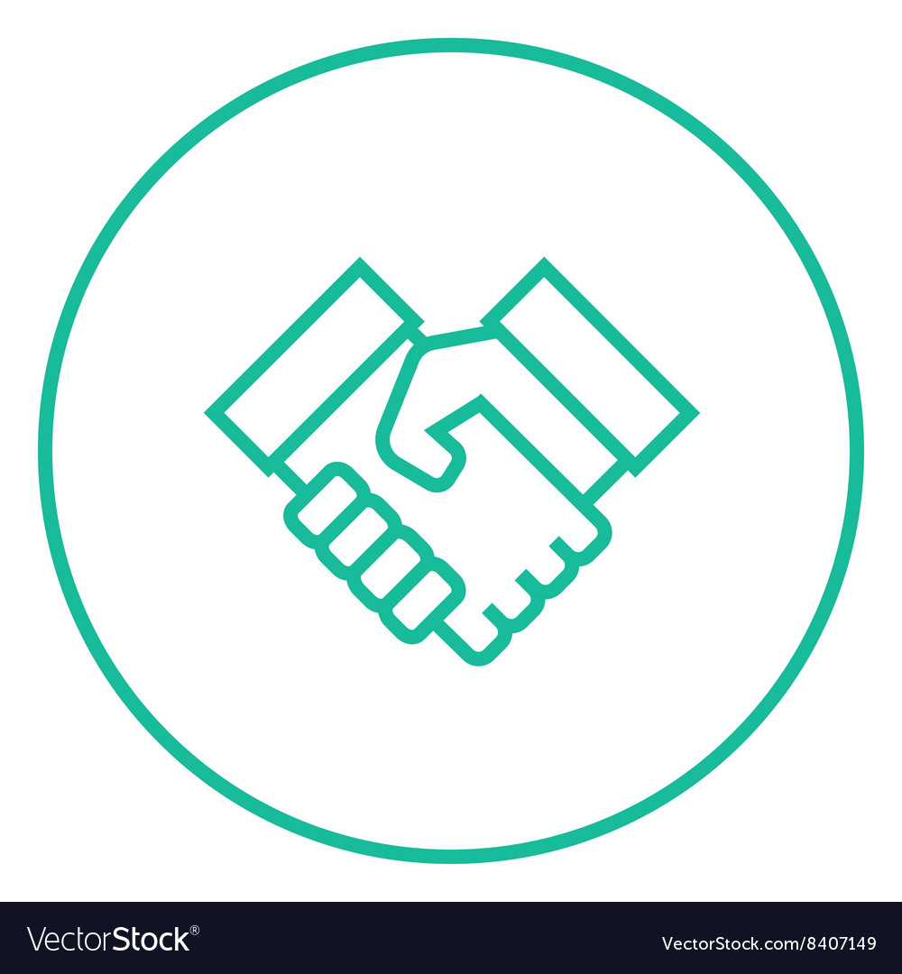 Handshake and successful real estate transaction vector