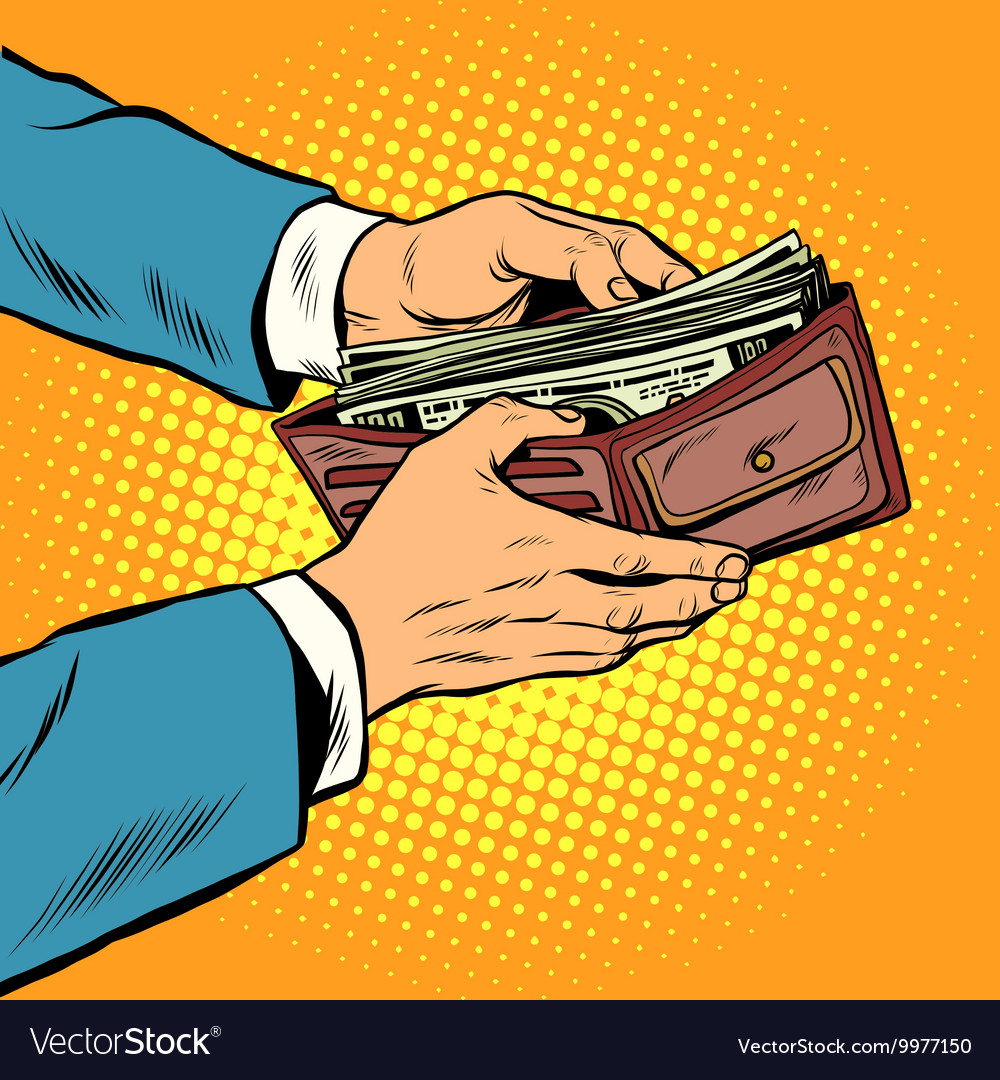 Wallet with cash money business and finance vector