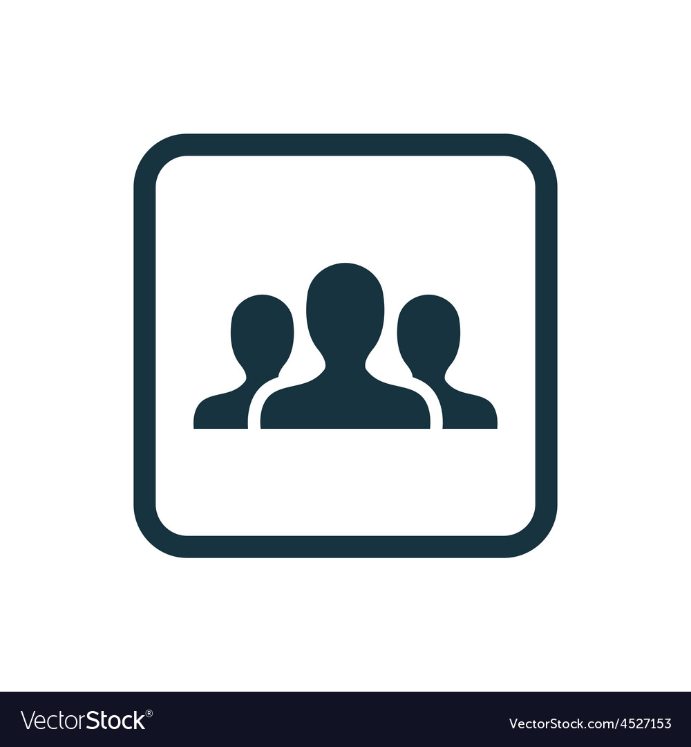 Team icon rounded squares button vector