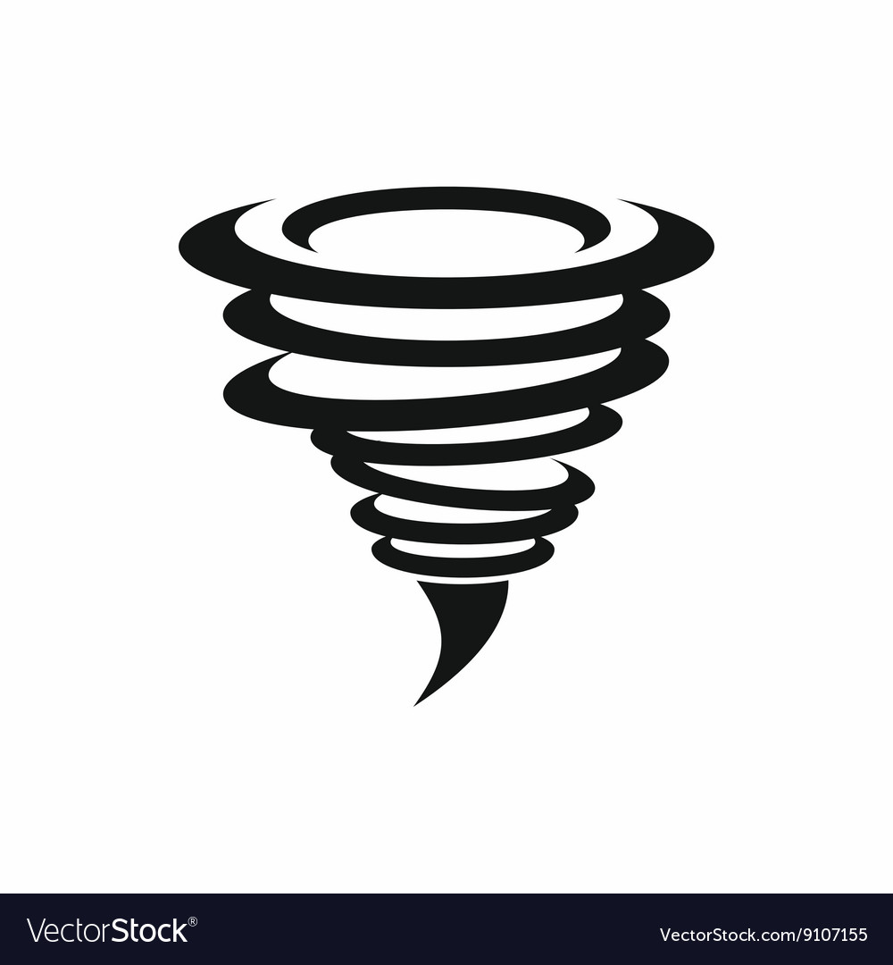 Tornado icon simple style vector