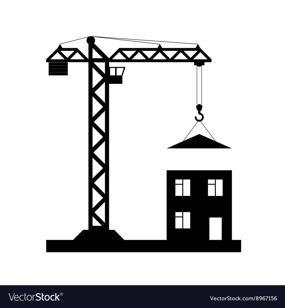 Tower crane  icon isolated vector