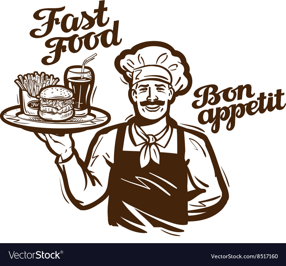 Fast food logo restaurant cafe or diner vector