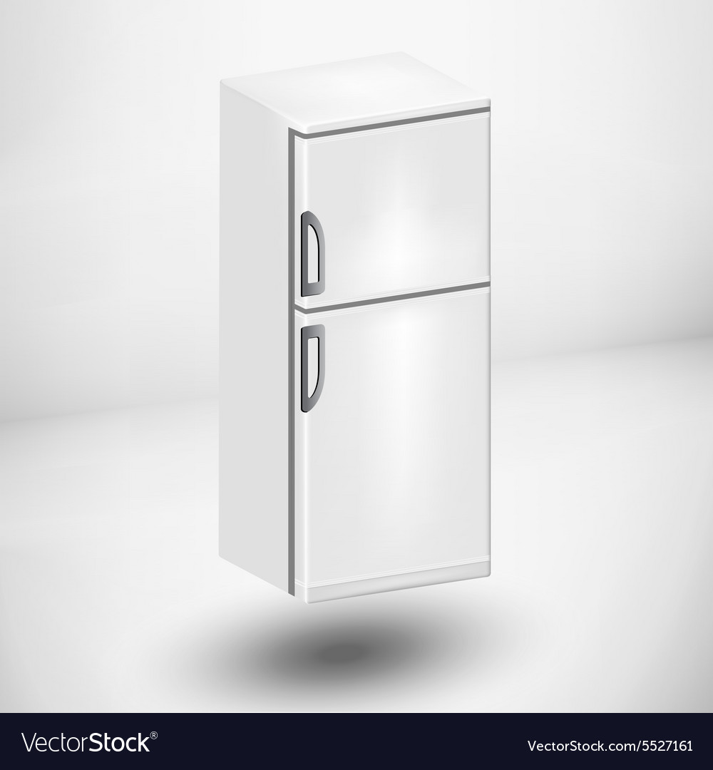 Refrigerator or fridge vector