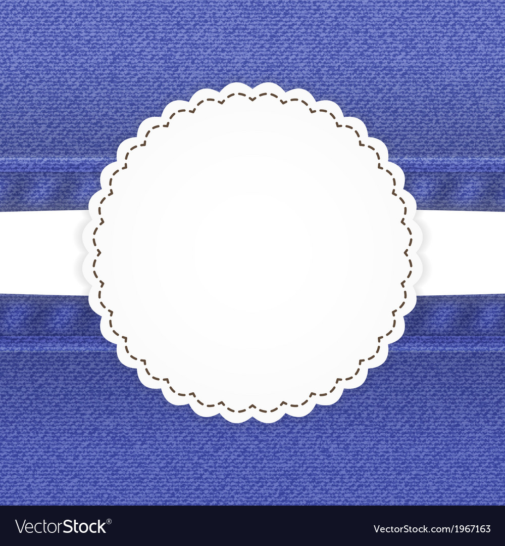 Blue jeans card template vector