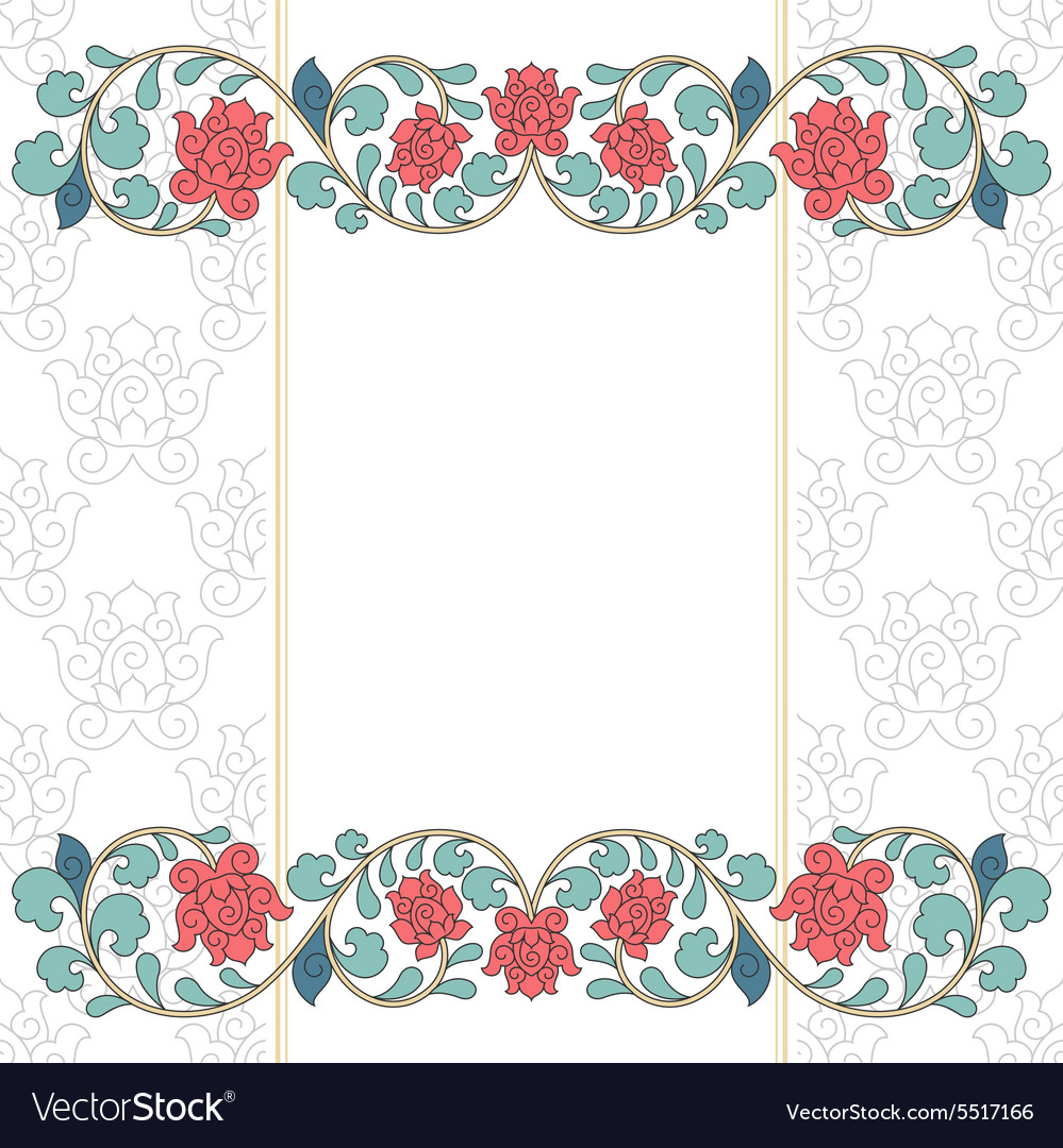 Floral oriental pattern in vintage style vector