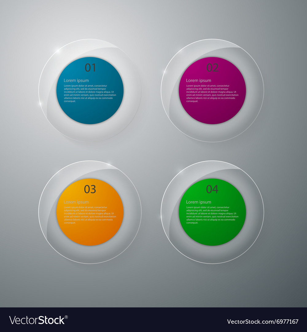 Infographics glass circles vector