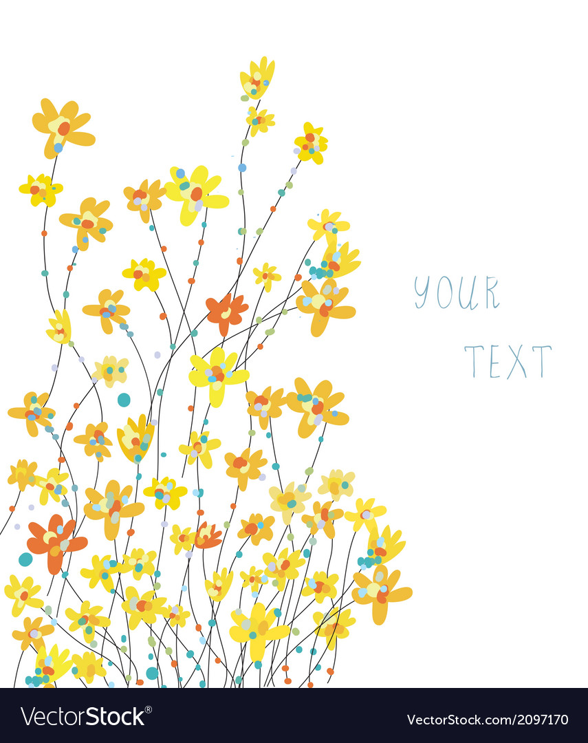 Daffodils floral graphic background vector