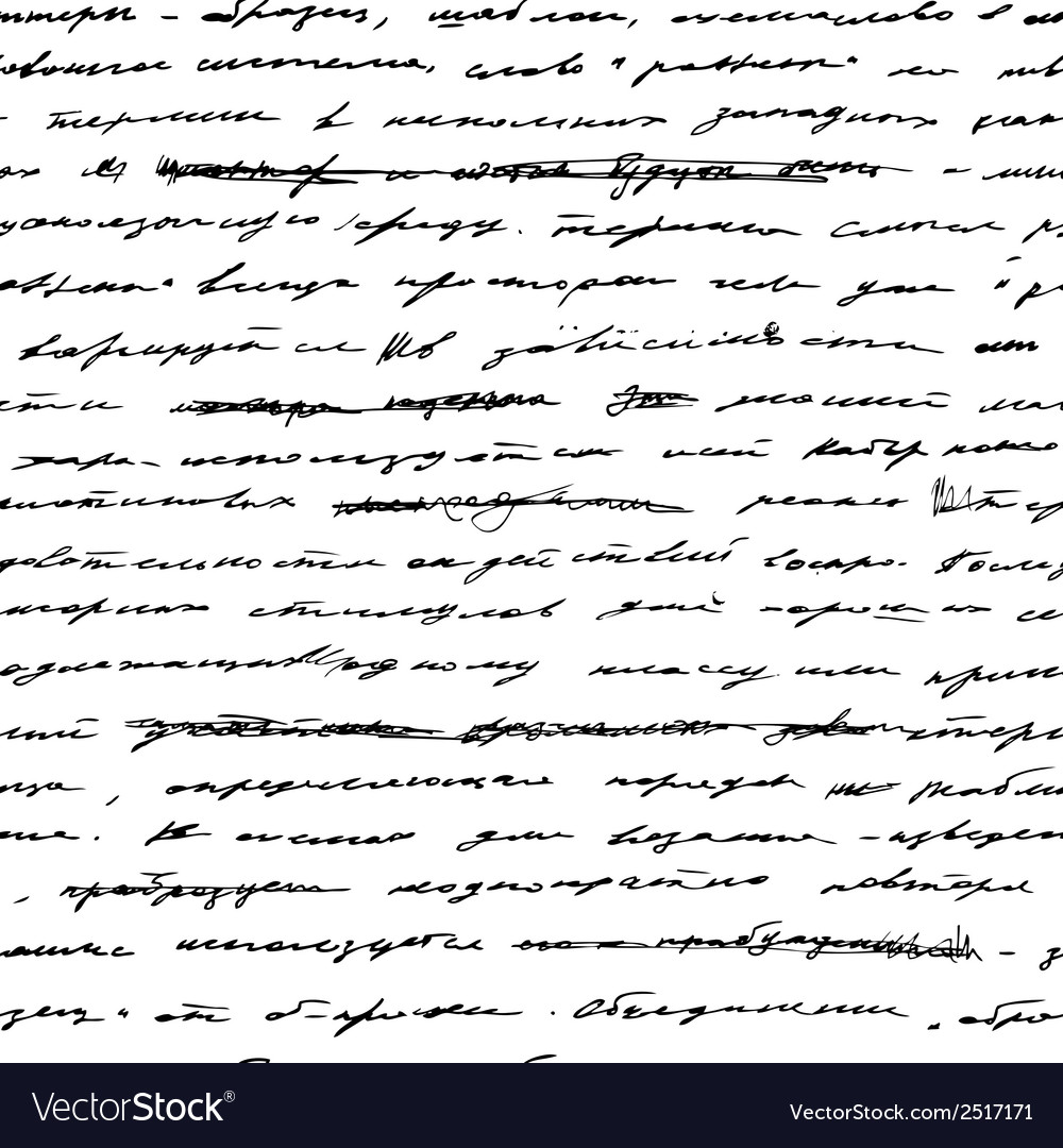 Handwriting seamless background vector