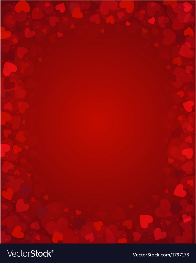 Background from red hearts vector