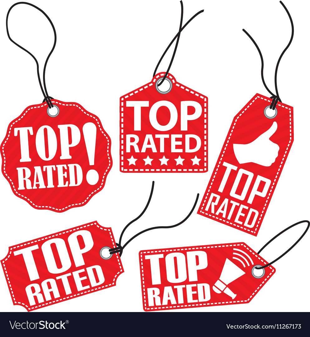 Top rated red tag set vector