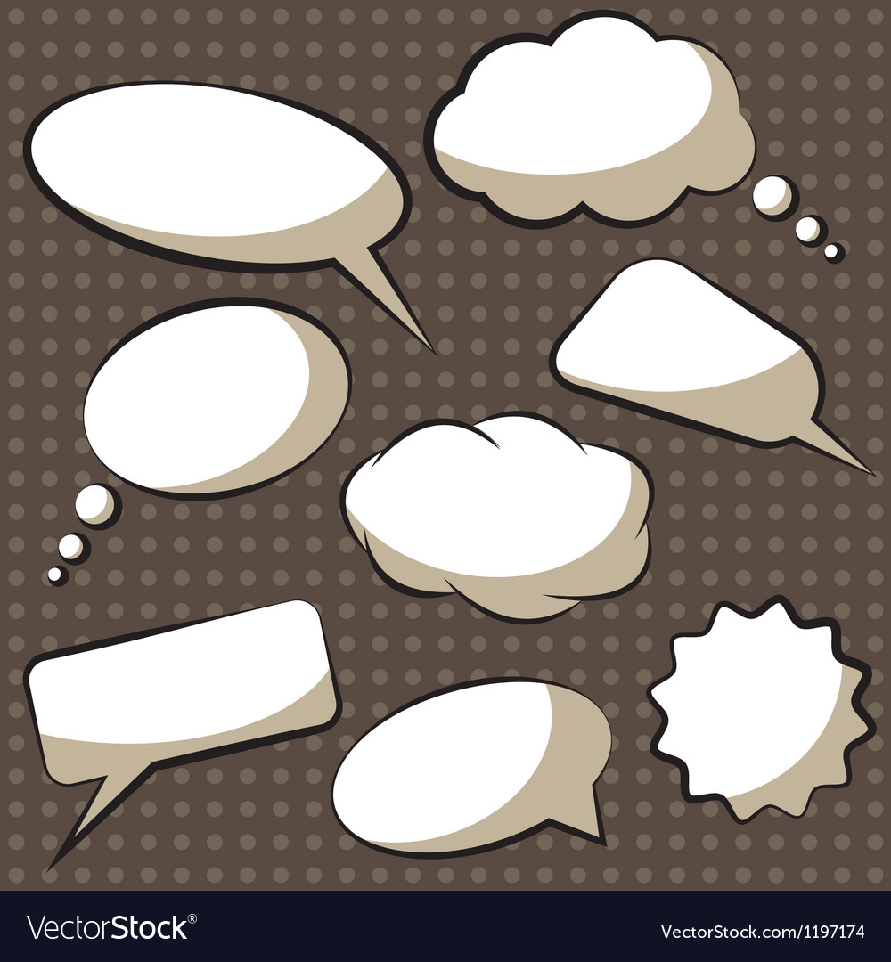 Comics speech bubbles vector