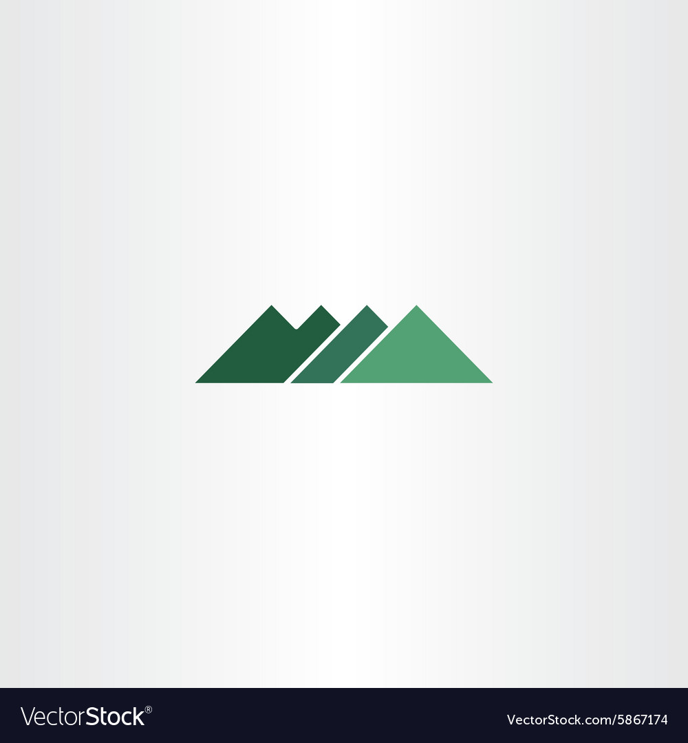 Green sign mountain logo icon element vector