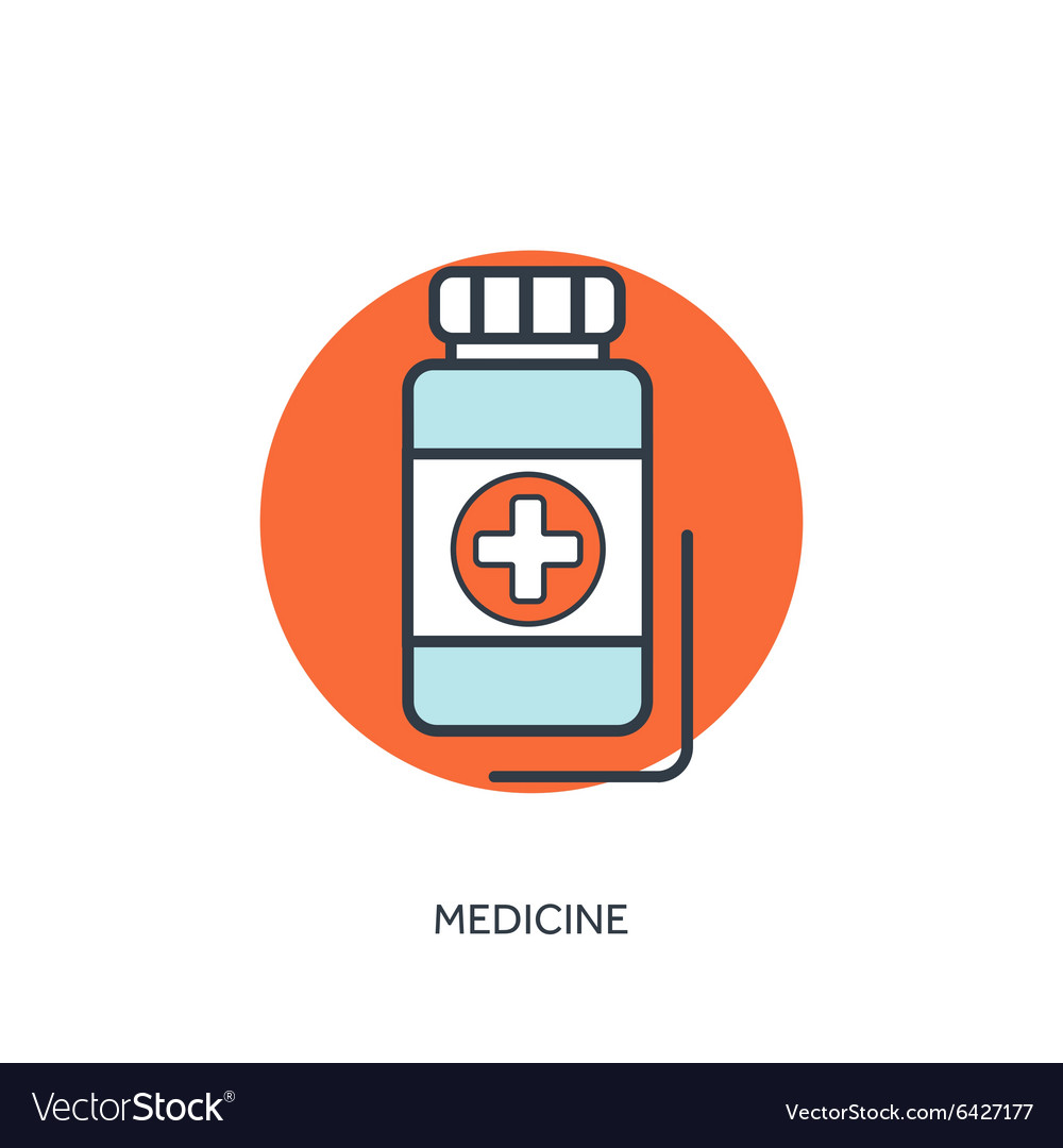Pills and antibiotics medical vector