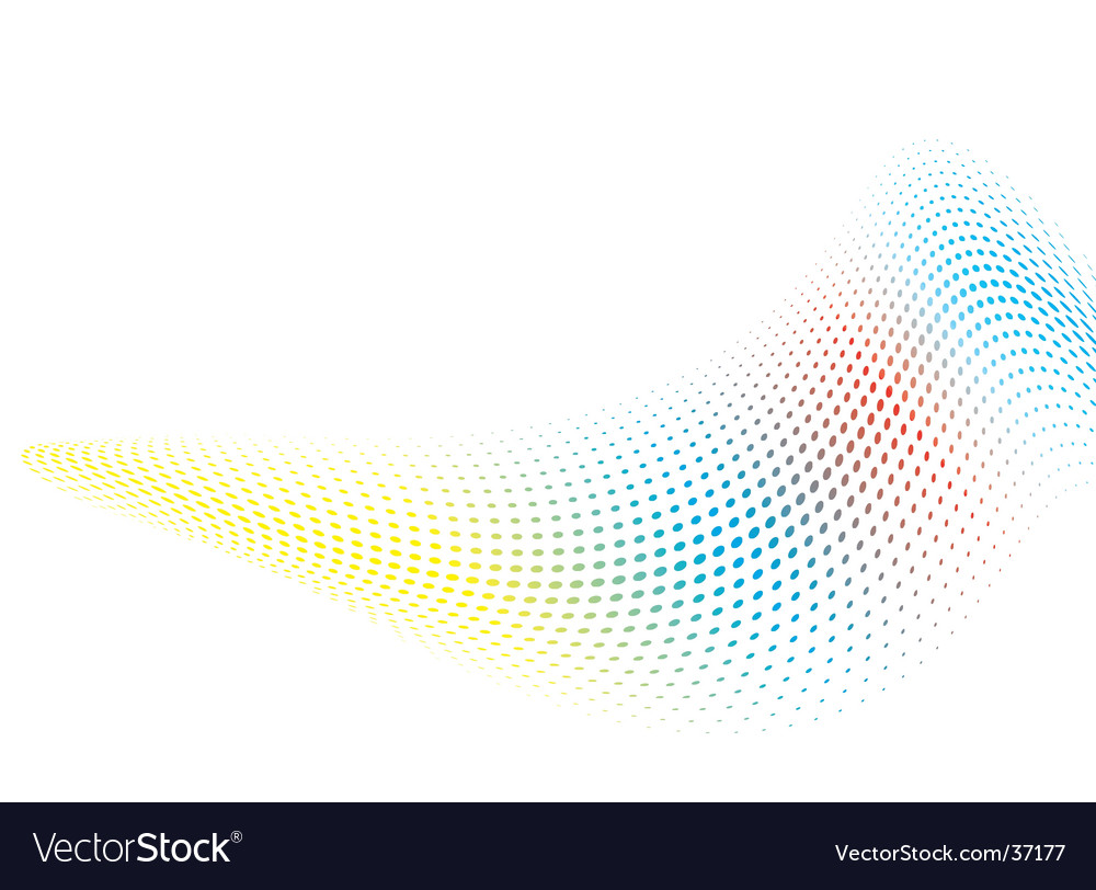 Rainbow wave background vector