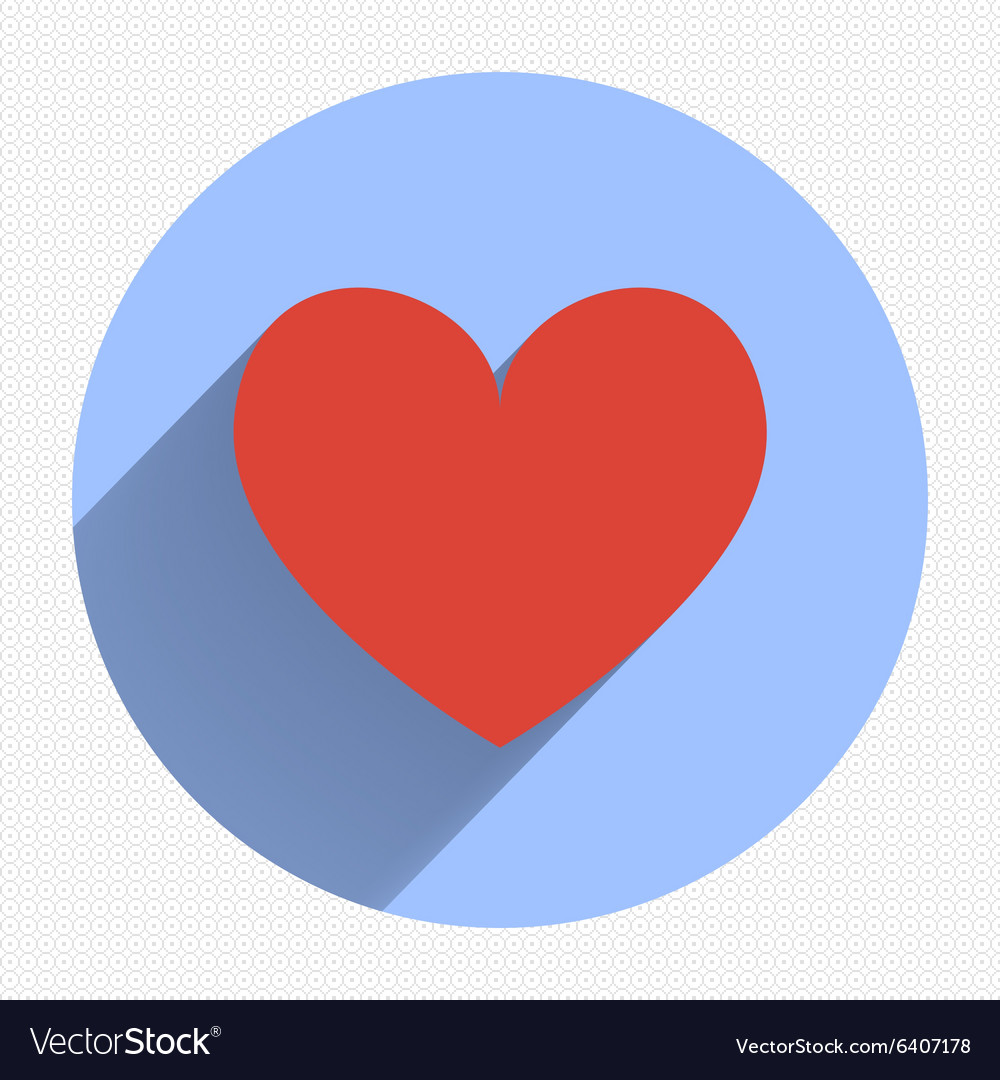 Flat heart applique background vector
