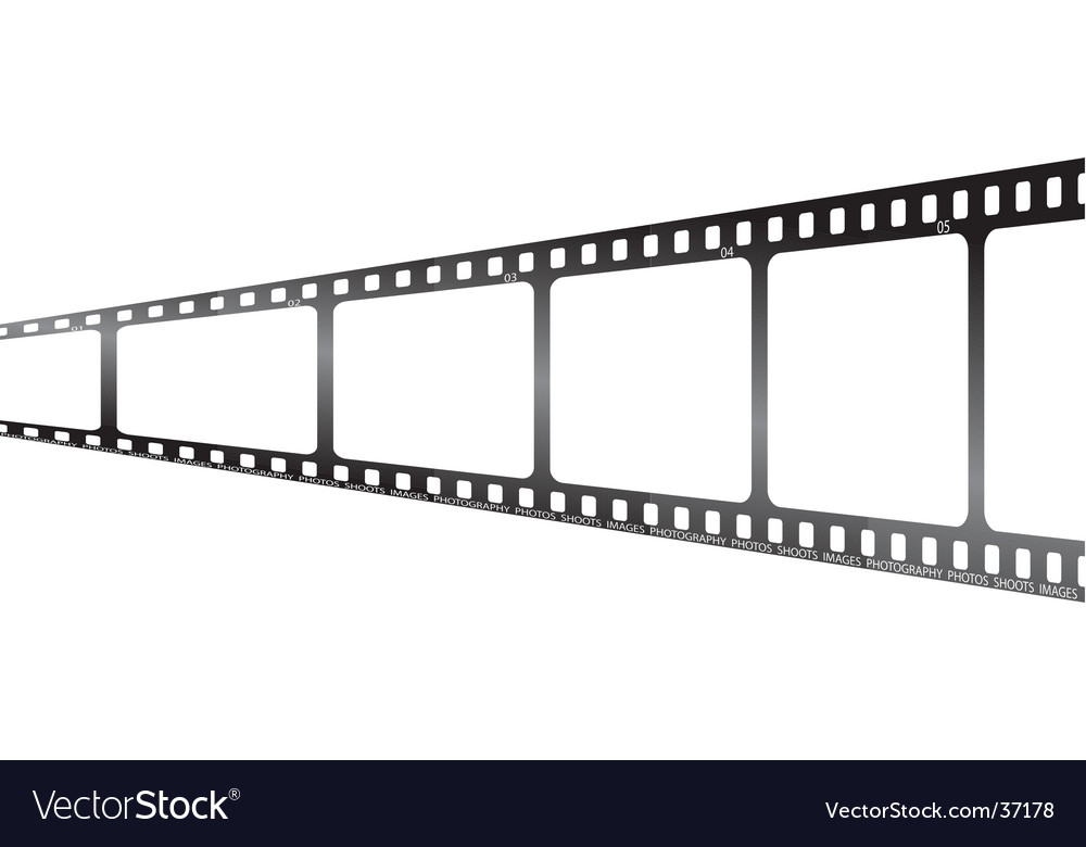 White film perspective vector