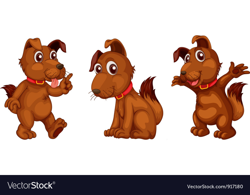 Dog series vector