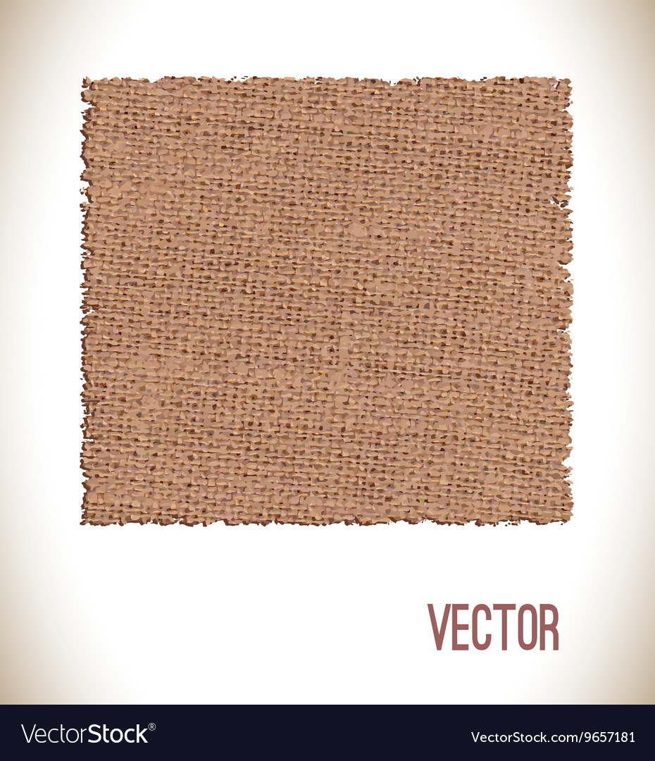 Brown fabric texture for background vector
