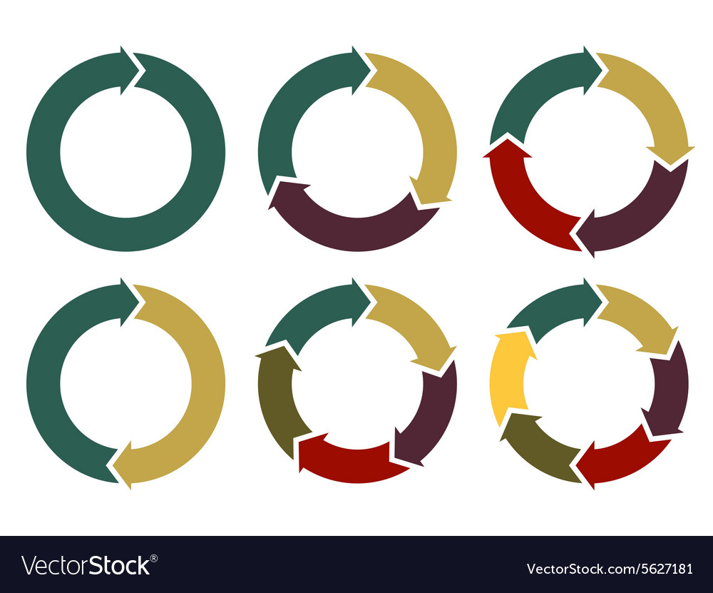 Circle arrows for infographic vector