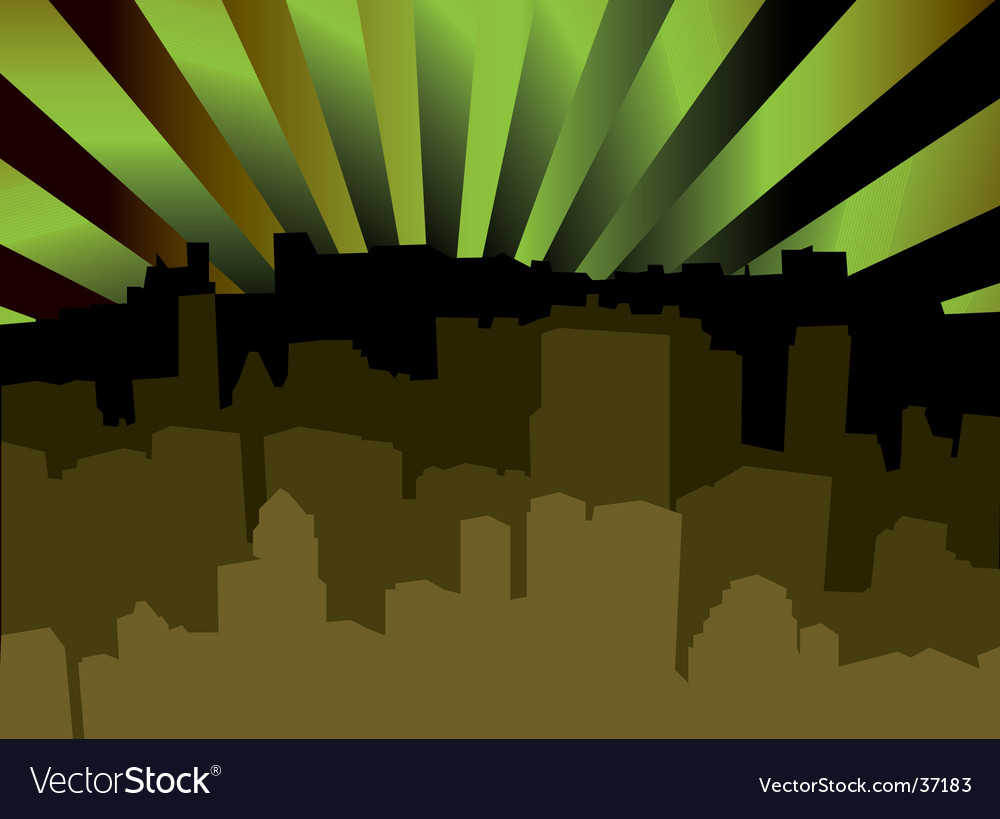 City scape shady vector