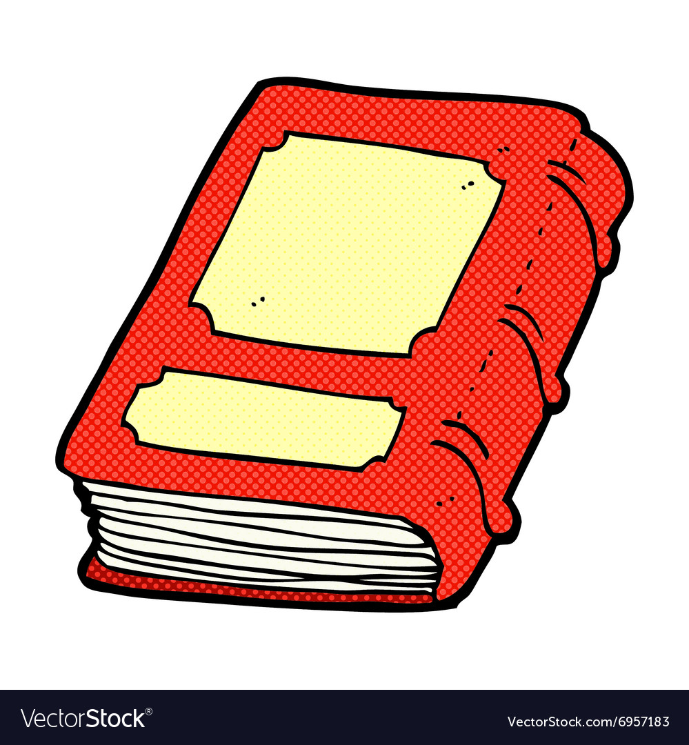 Comic cartoon old book vector