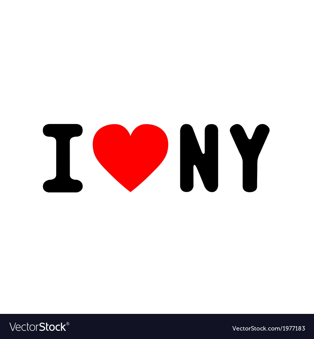 I love new york3 vector