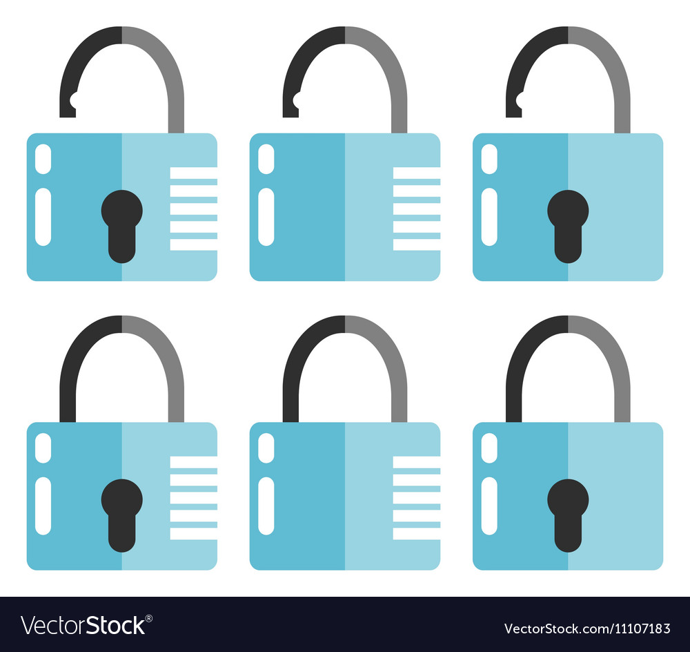 Set of opened and closed locks vector
