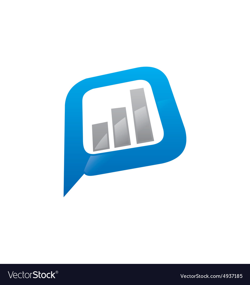 Finance graph icon logo vector