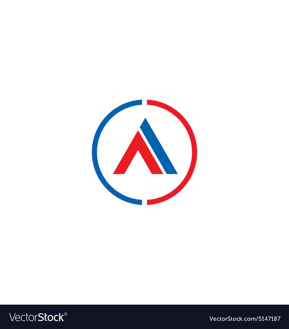 Letter a business company symbol logo vector