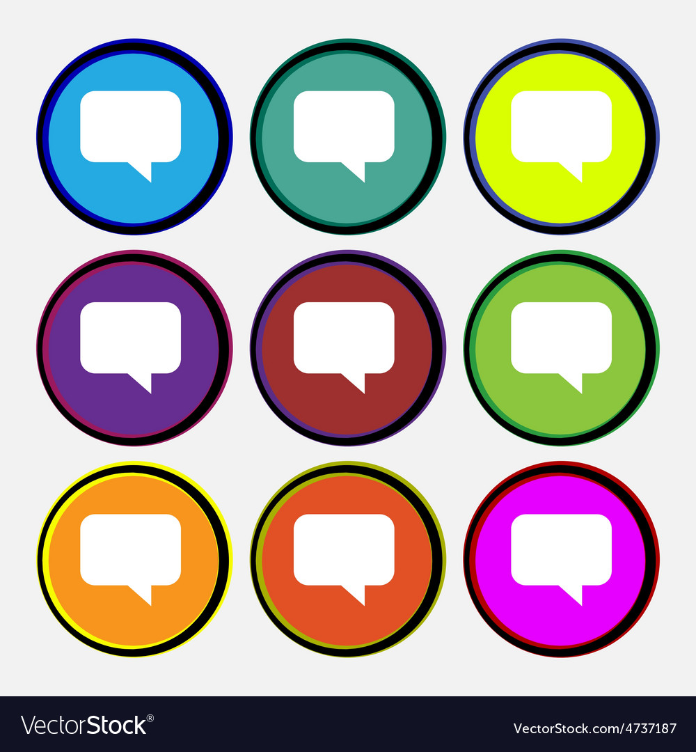 Speech bubble chat think vector