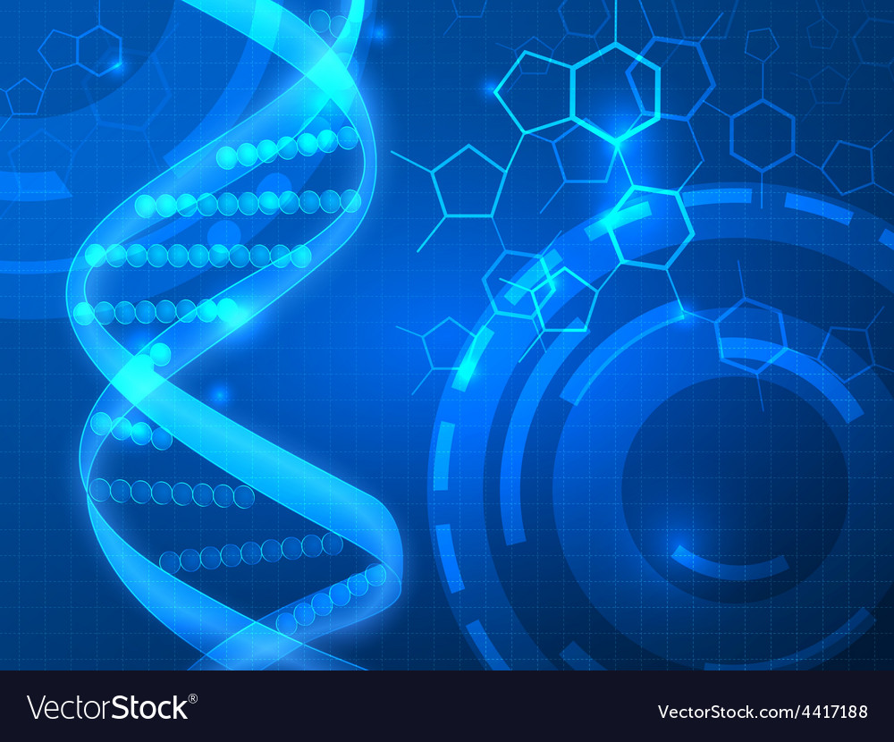 Dna medical background vector