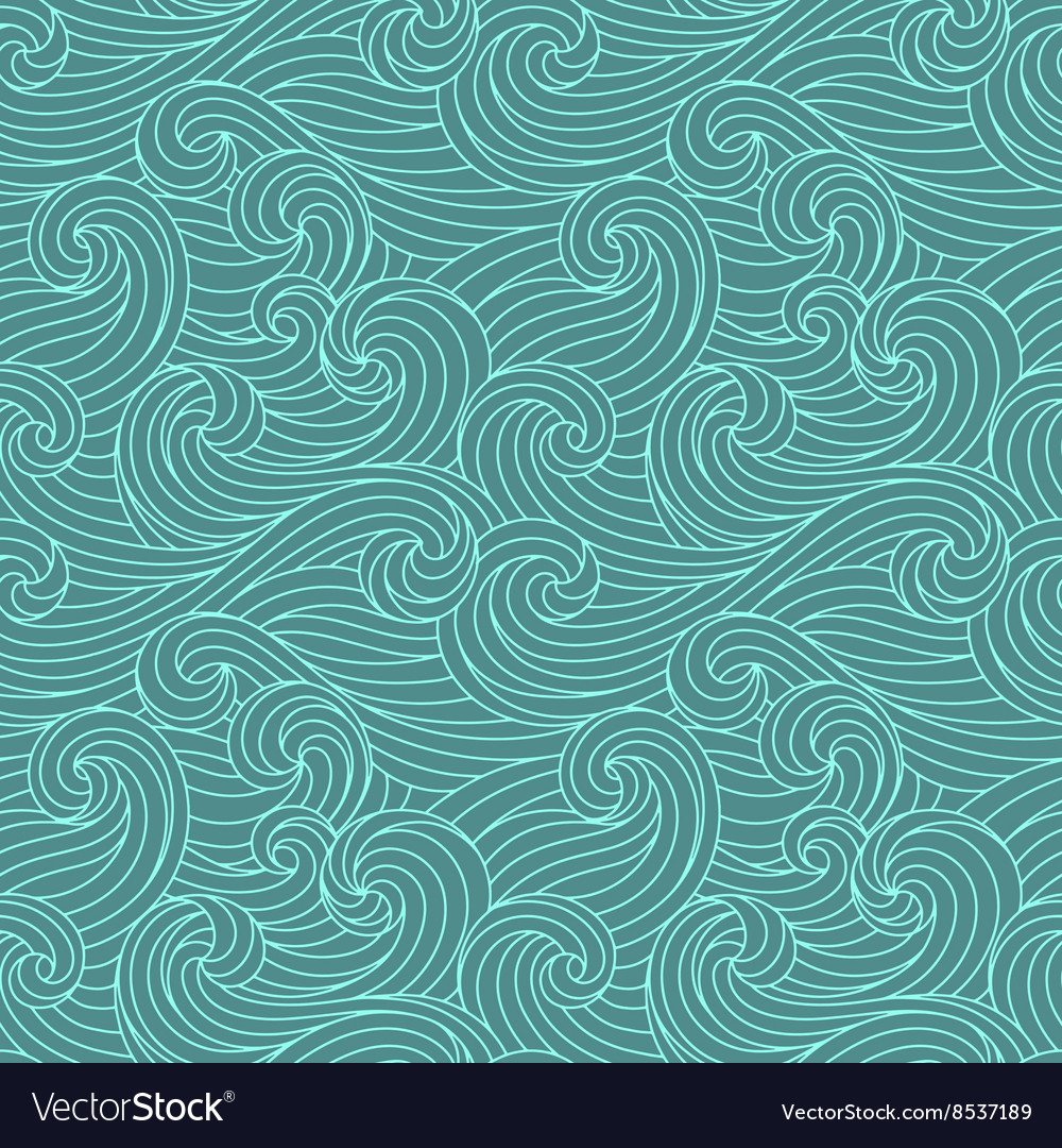Seamless handdrawn pattern vector
