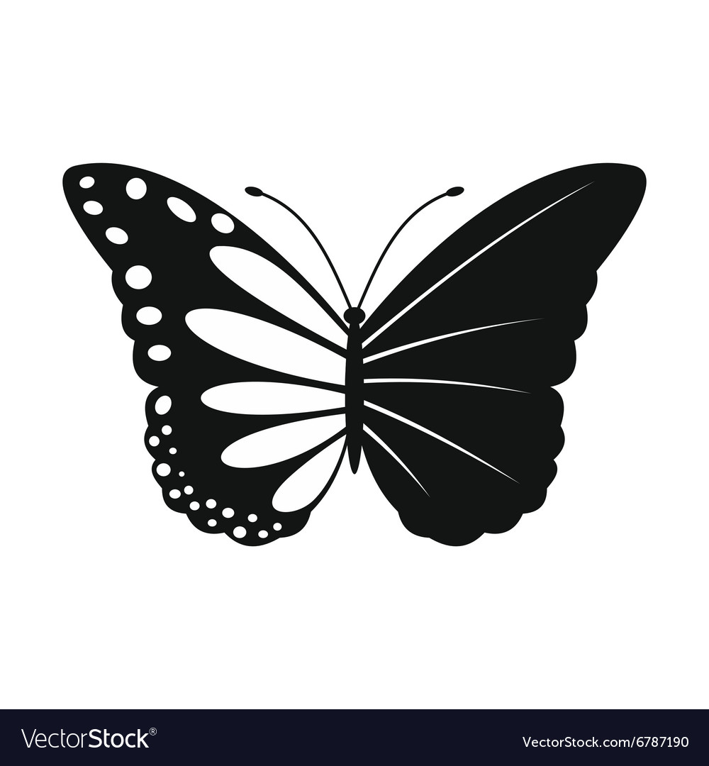 Butterfly ecology simple icon vector