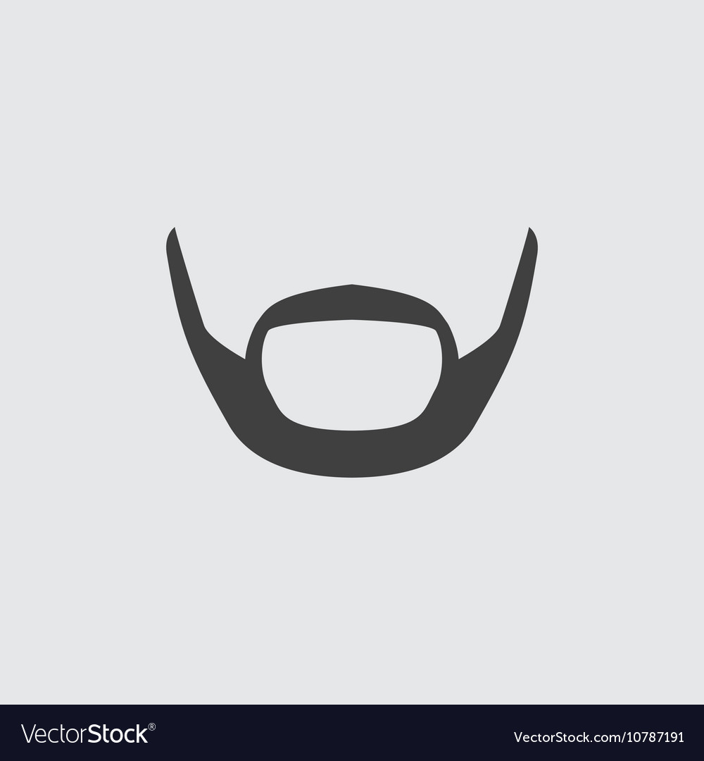Beard icon vector