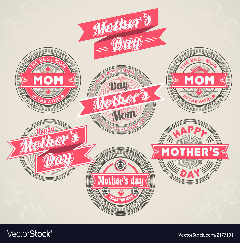 Calligraphic design elements mothers day vector