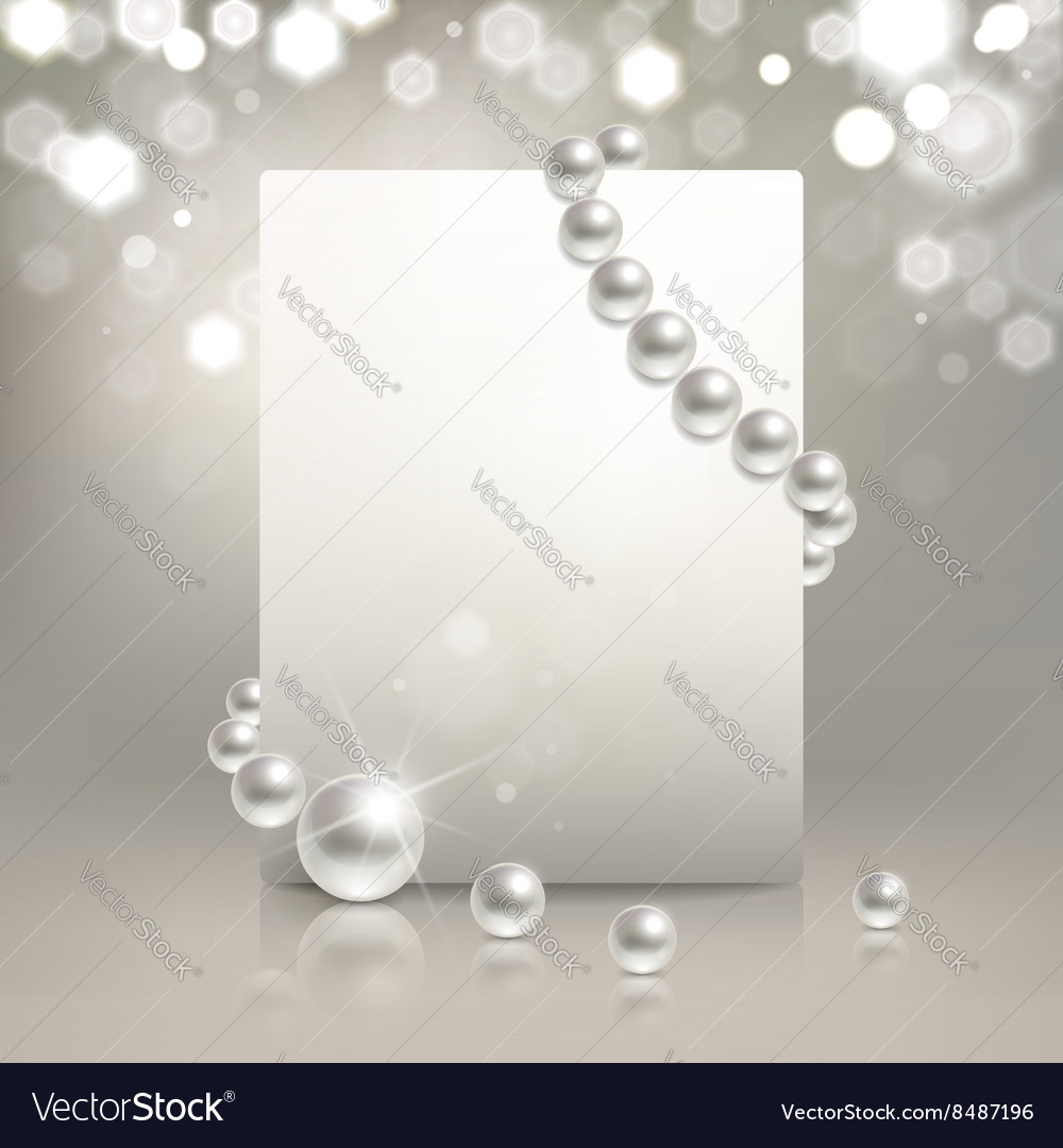 Pearl banner vector