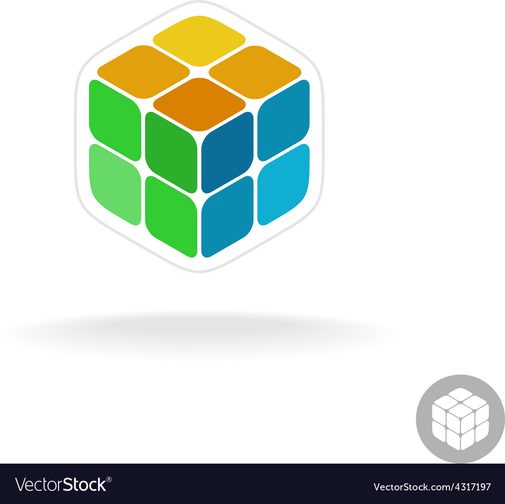 Abstract cube box logo vector