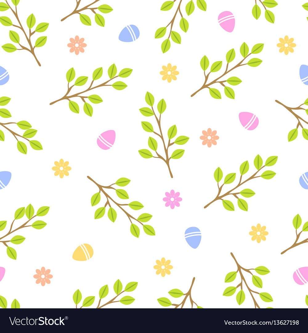 Easter seamless pattern retro vintage design party vector