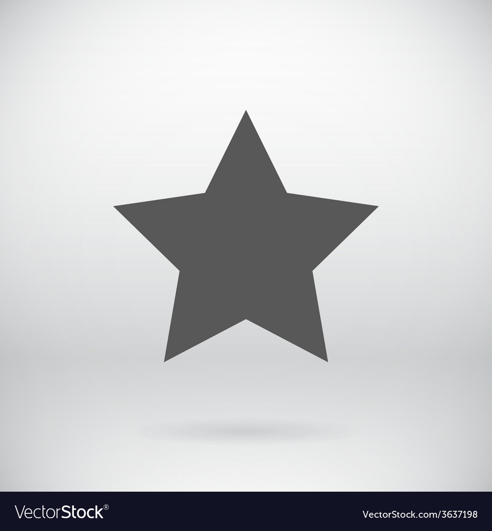 Flat black star symbol background vector